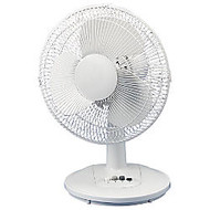 Atlantic Breeze 12 inch; Oscillating Desk Fan, Light Gray