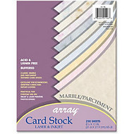 Array Card Stock - Letter - 8.50 inch; x 11 inch; - 65 lb Basis Weight - Textured, Parchment, Marble - 1 / Pack - Blue, Gray, Cherry, Tan, Lilac, Natural, Gold, Blue, Pink