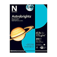 Astrobrights; 30% Recycled Cover Stock, 8 1/2 inch; x 11 inch;, 65 Lb, Lunar Blue, Pack Of 250 Sheets