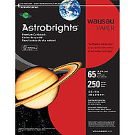 Astrobrights; 30% Recycled Cover Stock, 8 1/2 inch; x 11 inch;, 65 Lb, Re-Entry Red, Pack Of 250 Sheets