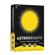 Astrobrights; Cover Stock, 8 1/2 inch; x 11 inch;, 65 Lb, Solar Yellow, Pack Of 250 Sheets