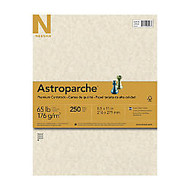 Neenah 30% Recycled Specialty Cover Stock, 65 Lb, 8 1/2 inch; x 11 inch;, Astroparche Natural, Pack Of 250 Sheets