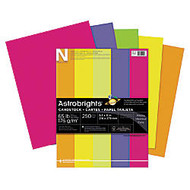 Neenah Astrobrights Bright Color Cover Paper, 8 1/2 inch; x 11 inch;, 65 Lb, Happy Assortment, Pack Of 250 Sheets