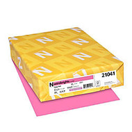 Neenah Astrobrights Bright Color Cover Paper, 8 1/2 inch; x 11 inch;, 65 Lb, Pulsar Pink, Pack Of 250 Sheets