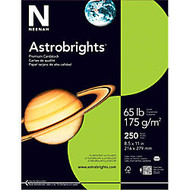 Neenah Astrobrights Bright Color Cover Paper, 8 1/2 inch; x 11 inch;, 65 Lb, Terra Green, Pack Of 250 Sheets