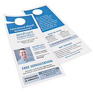 Avery; Door Hangers With Tear-Away Cards, 2 Cards Per Sheet, Pack Of 40