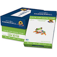 Hammermill Color Copy Digital Cover Laser Paper - 17 inch; x 11 inch; - 80 lb Basis Weight - Super Smooth - 100 Brightness - 1 Pack - White