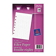 Avery; 7-Hole Punched Mini Binder Filler Paper, 5 1/2 inch; x 8 1/2 inch;, College Ruled, Pack Of 100 Sheets