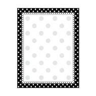 Barker Creek Computer Paper, 8 1/2 inch; x 11 inch;, Black-And-White Dot, 50 Sheets