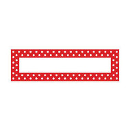 Barker Creek Double-Sided Desk Tags/Bulletin Board Signs, 3 1/2 inch; x 12 inch;, Red-And-White Dot, Pre-K To 6th Grade, Pack Of 36