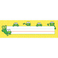 Carson-Dellosa Desk Nameplates, 9 1/2 inch; x 3 inch;, Frogs, Pack Of 36