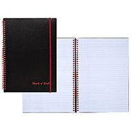 Black n' Red™ Poly Notebook/Journal, 8 1/2 inch; x 11 5/8 inch;, Black/Red, 70 Pages