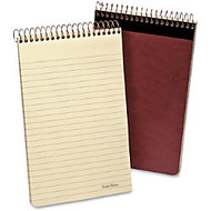 Ampad Gold Fibre Retro Writing Pad - 80 Sheets - Printed - Spiral Bound - 20 lb Basis Weight - 5 inch; x 8 inch; - Ivory Paper - 1Each