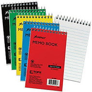 Ampad Pocket Size Memo Notebook - 50 Sheets - Printed - Wire Bound 3 inch; x 5 inch; - White Paper - Assorted Cover - Pressboard Cover - 1Each
