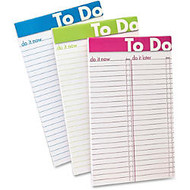 Ampad To Do List Notepad - 50 Sheets - Printed 5 inch; x 8 inch; - White Paper - Assorted Cover - 6 / Pack