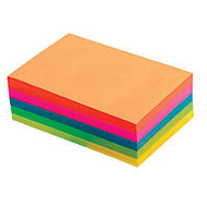 Office Wagon; Brand Fluorescent Memo Sheets, 4 inch; x 6 inch;, Assorted Colors, 500 Sheets