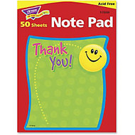 Trend; Note Pad, 5 inch; x 5 inch;, Thank You, Unruled, 25 Sheets