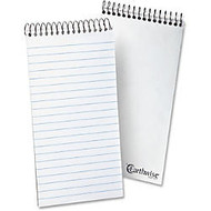 Ampad Earthwise Reporter's Notebook - 70 Sheets - Printed - Wire Bound - Front Ruling Surface - 15 lb Basis Weight - 4 inch; x 8 inch; - White Paper - 1Each