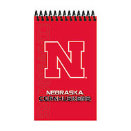Markings by C.R. Gibson; Memo Books, 3 inch; x 5 inch;, College Ruled, 100 Pages (50 Sheets), Nebraska Cornhuskers, Pack Of 3