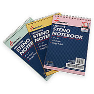 50% Recycled Steno Notebooks, 6 inch; x 9 inch;, Gregg Ruled, 60 Pages (30 Sheets), White/Blue, Pack Of 3 (AbilityOne 7530-01-454-5702)