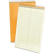 Ampad Greentint Steno Notebook - 80 Sheets - Printed - Wire Bound - 15 lb Basis Weight - 6 inch; x 9 inch; - Green Tint Paper - 1Each