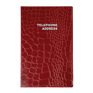 Office Wagon; Brand Medium Croc Telephone/Address Book, 4 1/8 inch; x 6 3/16