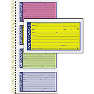 Adams Phone Message Book - 200 Sheet(s) - Spiral Bound - 2 Part - Carbonless Copy - 5.25 inch; x 11 inch; Form Size - Assorted Sheet(s) - 1 Each