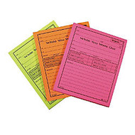 Adams;  inch;While You Were Out inch; Message Pads, 4 1/4 inch; x 5 1/2 inch;, 50 Sheets, Assorted Neon, Pack Of 6