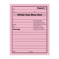Adams;  inch;While You Were Out inch; Message Pads, 4 1/4 inch; x 5 1/2 inch;, 50 Sheets, Pink, Pack Of 12