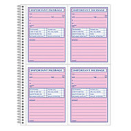 Adams; Phone Message Book, 11 inch; x 8 1/16 inch;, 50 Pages, White/Canary Yellow