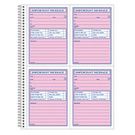 Adams; Phone Message Book, 11 inch; x 8 1/4 inch;, 100 Pages, White/Canary Yellow
