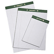 80% Recycled Chlorine-Free Writing Pads, Junior Size, 5 inch; x 8 inch;, 25 Sheets, Pack Of 12 (AbilityOne 7530-01-516-9629)