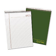 Ampad Classic Wirebound Legal Pad - 70 Sheets - Printed - Wire Bound - 20 lb Basis Weight 8.50 inch; x 11.75 inch; - White Paper - Green Cover - 1Each