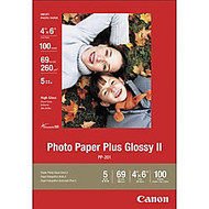 Canon; Inkjet Photo Paper Plus, Glossy, 4 inch; x 6 inch;, 69 Lb, Pack Of 100 Sheets