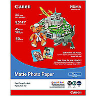 Canon; Photo Paper, Matte, 8 1/2 inch; x 11 inch;, 10 Mil, Pack Of 50 Sheets
