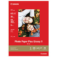 Canon; PP201 Glossy Photo Paper Plus, 8 1/2 inch; x 11 inch;, 69 Lb, Pack Of 20 Sheets