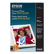 Epson Premium Photo Paper - Super B - 13 inch; x 19 inch; - 68 lb Basis Weight - Semi-gloss - 93 Brightness - 1 Each - White, Blue