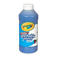 Crayola; Washable Paint, Blue, 16 Oz