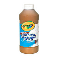 Crayola; Washable Paint, Brown, 16 Oz