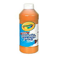 Crayola; Washable Paint, Orange, 16 Oz