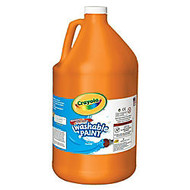 Crayola; Washable Paint, Orange, Gallon