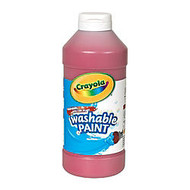 Crayola; Washable Paint, Red, 16 Oz