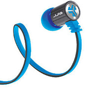 JLab Bass Rugged Earbuds, Blue/Gray