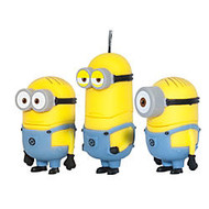 Despicable Me 2 Minions USB Flash Drives, 8GB, Dave, Kevin, Stuart, Pack Of 3