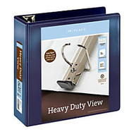 Office Wagon; Brand Heavy-Duty D-Ring View Binder, 4 inch; Rings, Navy