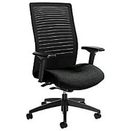 Global; Loover High-Back Weight-Sensing Synchro Chair, 42 inch;H x 25 1/2 inch;W x 24 inch;D, Black Coal/Black