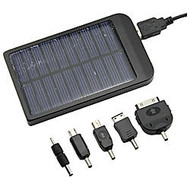 4XEM™ Solar Charger For iPhone;/iPad;/iPod; And Other Mobile Devices, Black