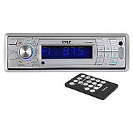 Pyle PLMR17BTS Marine CD/MP3 Player - Single DIN - Silver