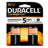 Duracell; Copper Top 9-Volt Batteries, Pack of 2