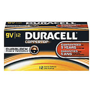 Duracell; Coppertop 9-Volt Alkaline Batteries, Pack Of 12